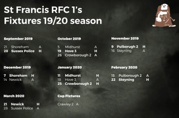 St Francis Firsts Fixtures
