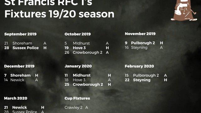 St Francis Fixtures 2019/2020 Season