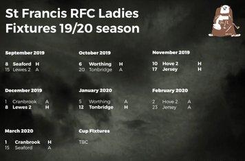 St Francis Ladies Fixtures