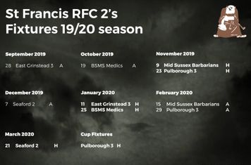 St Francis Seconds Fixtures
