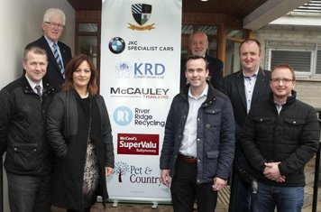 Main Sponsors from Pet & Country, KRD Credit Union and River Ridge Recycling with JAS Campbell and Shaun Boyd