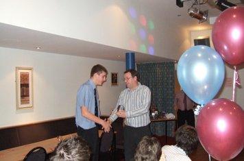 Tom Salmon winning 1st team player of the year