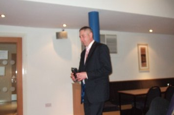 Simon Coombs winning a club tie for his century in the 2008 season
