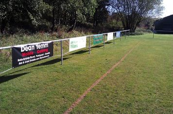 If you would like to sponsor the club and have a pitchside banner please contact us
