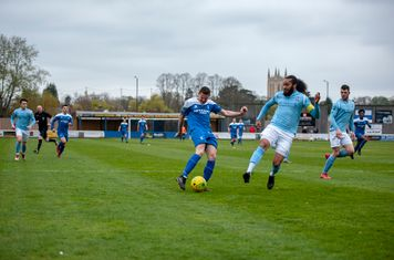 Ollie Hughes in action against Brentwood Town