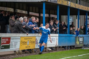 Goal celebrations against Brentwood Town