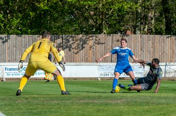 Ollie Hughes in action vs Grays Athletic