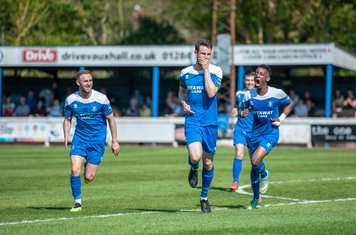 Ollie Fenn celebrates vs Grays Athletic