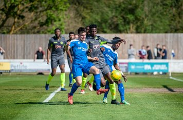 Emmanuel Machaya in action vs Grays Athletic
