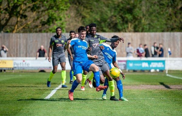 Emmanuel Machaya in action vs Grays Athletic
