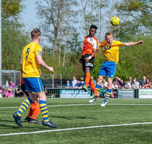 Emmanuael Machaya heads for goal