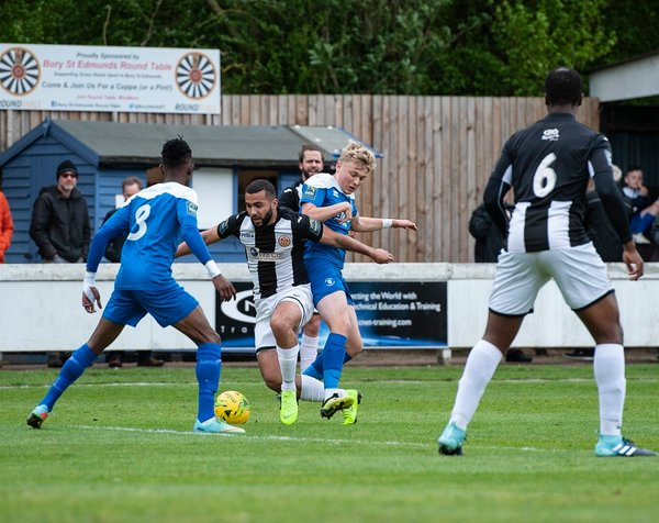 Branham Ince in action against Heybridge Swifts