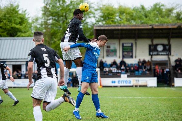 Harry Brown in action against Heybridge Swifts