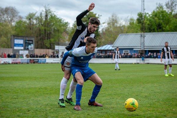 Josh Revell in action against Heybridge Swifts
