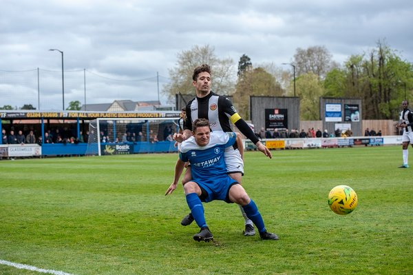 Ollie Hughes in action against Heybridge Swifts
