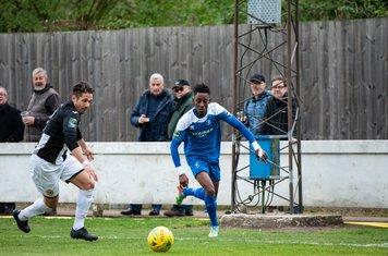 Emmanuel Machaya in action against Heybridge Swifts