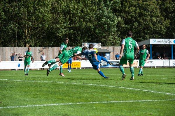 Ollie Hughes scores against Basildon
