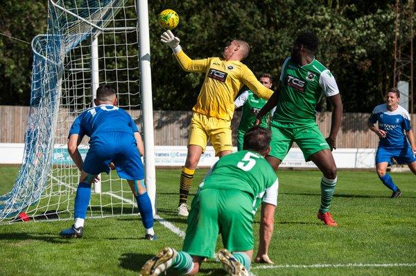 Goalmouth action against Basildon