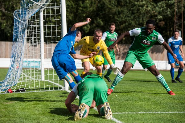 Goalmouth action against Basildon