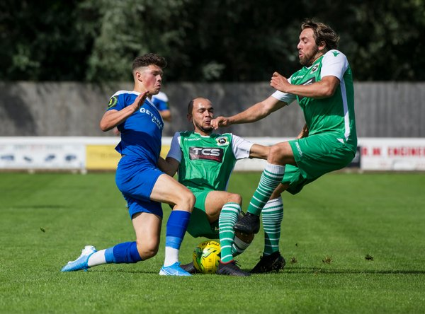 Ross Crane in action against Basildon