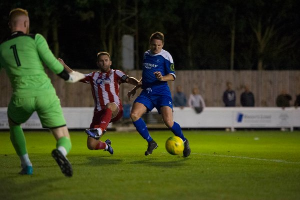 Ollie Hughes in first half action