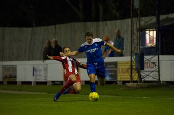 Ollie Hughes gives his marker the slip in the second half