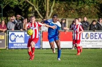 Colin Oppong bursts forward