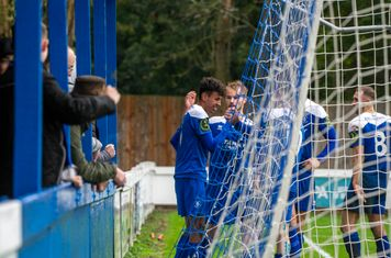 Celebrations for Max Maughn's goal