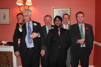 Terry's wedding - Darryl, Bob, Rusty, Jas, Ceri & Young Huw