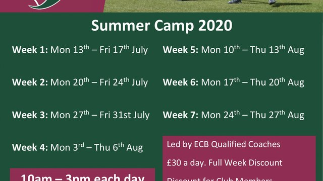 Summer Camps 2020 - Book Now