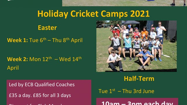 Easter Cricket Camps 2021 - Book Now!