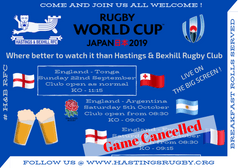 Rugby World Cup Japan 日本 2019 (England vs France - CANCELLED)