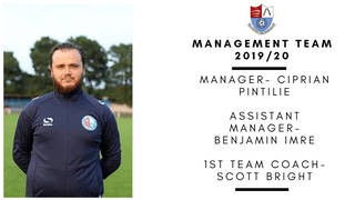 MANAGEMENT TEAM CONFIRMED FOR THE 19/20 SEASON