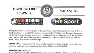 HUNGERFORD TOWN VACANCY