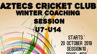 Aztecs Cricket Club Winter Coaching Session
