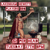 Player's BBQ Tuesday 27th 8pm