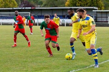 Marcus Elliott brings the ball forward