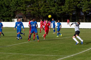 Kieron Thorp is unable to make the save