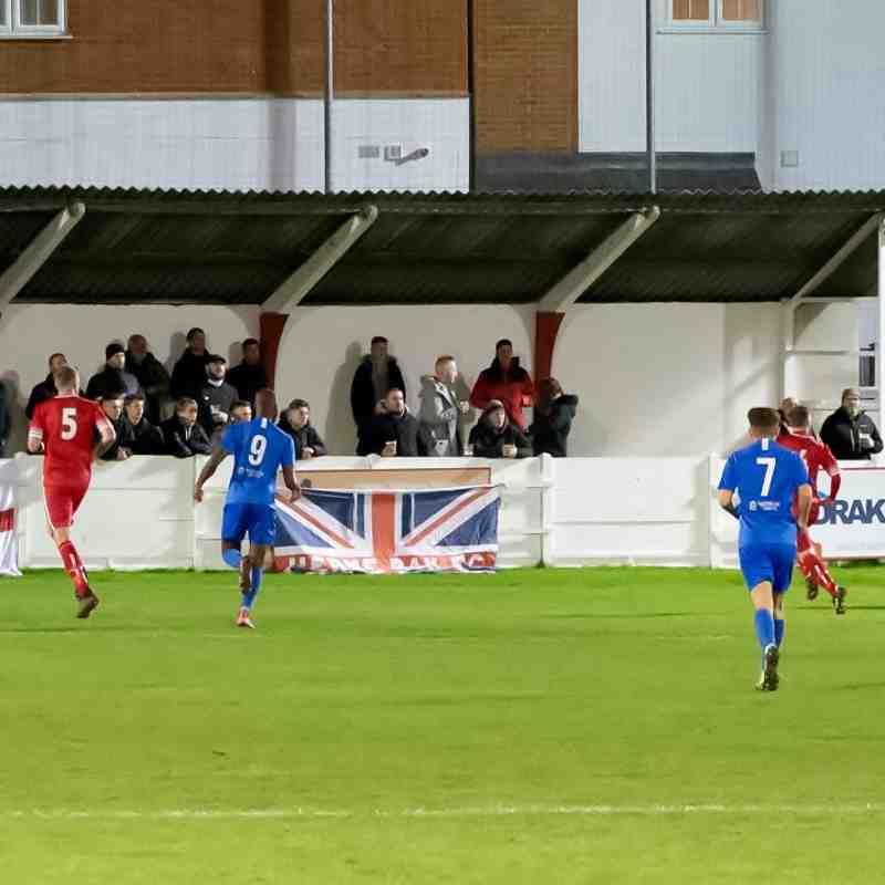 Dan Eason concedes a penalty as he collides with Bradley Stevenson