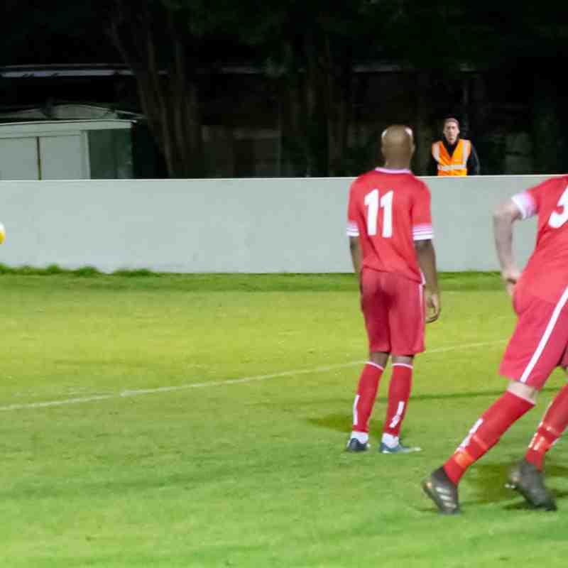 Harry Stannard strikes a good free kick