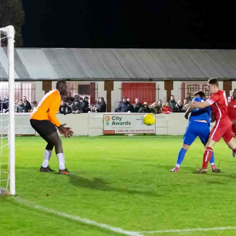 Whitstable almost score with a header