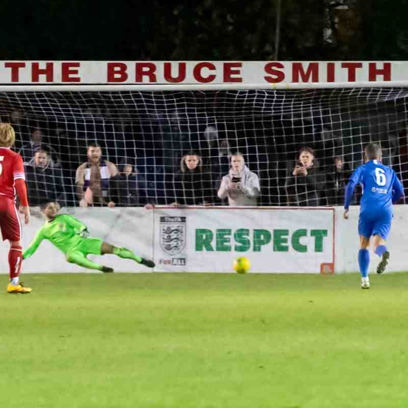Victor Aiyelabola tucks away a second Herne Bay penalty