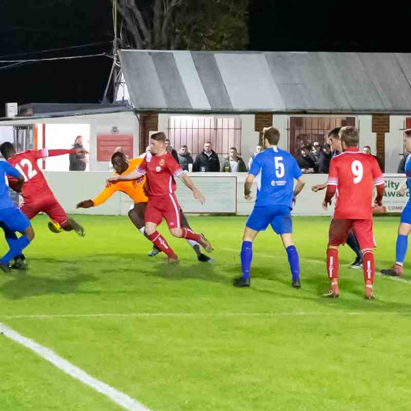 A late scramble in the Herne Bay box, but the game has gone