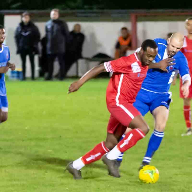 Latest signing Charles Etumnu on the ball for Whitstable