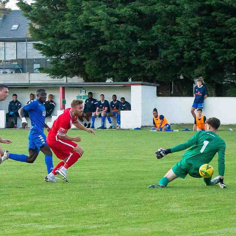 Aaron Millbank scores for Whitstable