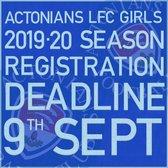 Girls Section Registration Deadline....Monday 9th September 2019