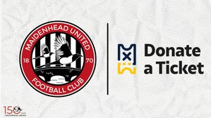 Maidenhead United strike partnership with DonateATicket