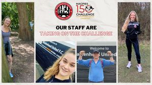 Our staff have taken on the Magpies 150 Challenge