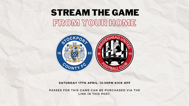 Stream Stockport County v Maidenhead United from your home