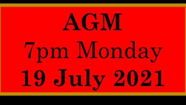 2021 AGM Date Announced